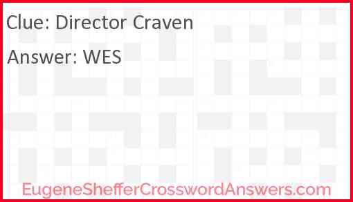 Director Craven Answer