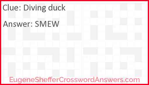 Diving duck Answer
