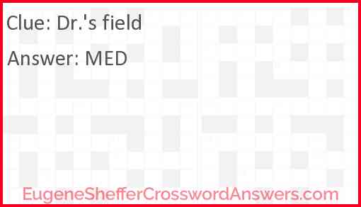 Dr.'s field Answer
