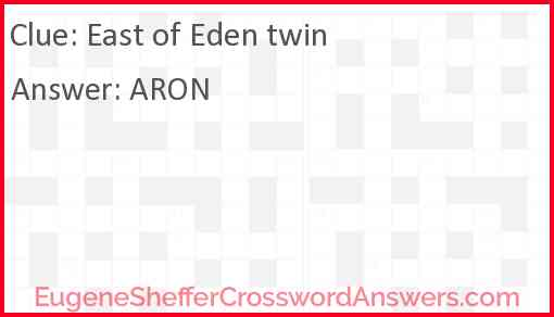 East of Eden twin Answer