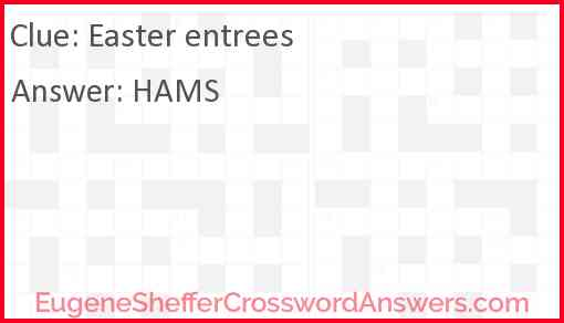 Easter entrees Answer