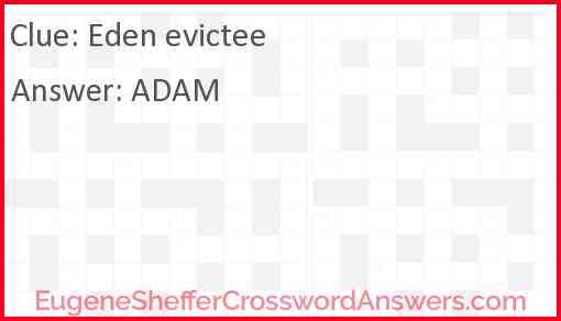 Eden evictee Answer