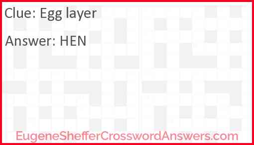 Egg layer Answer