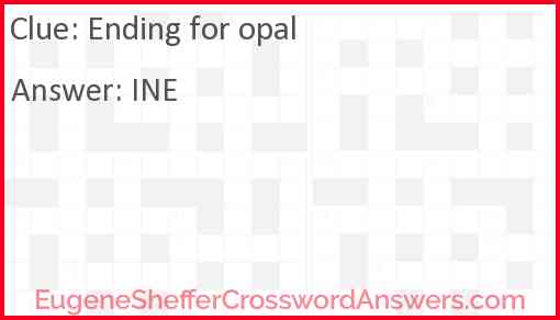 Ending for opal Answer