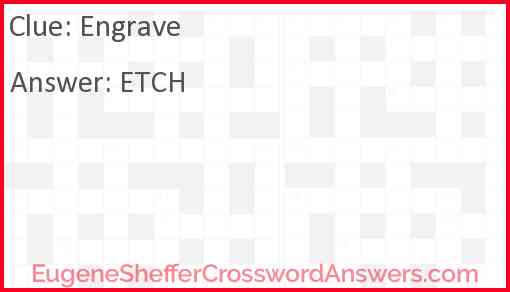 Engrave Answer