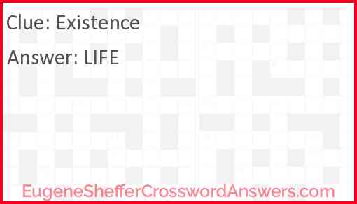 Existence Answer