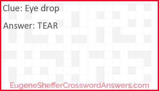 Eye drop Answer