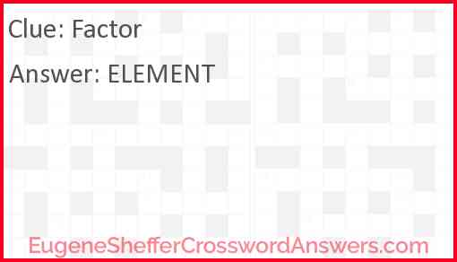 Factor Answer