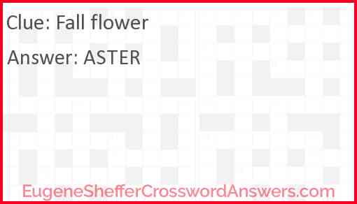 Fall flower Answer