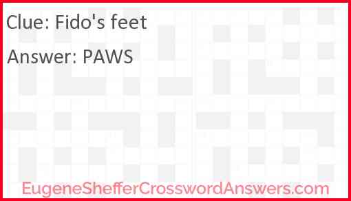 Fido's feet Answer