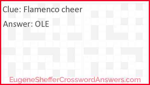 Flamenco cheer Answer
