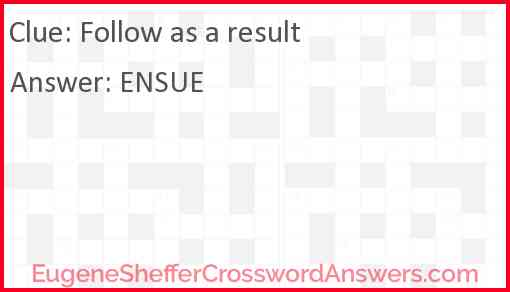 Follow as a result Answer
