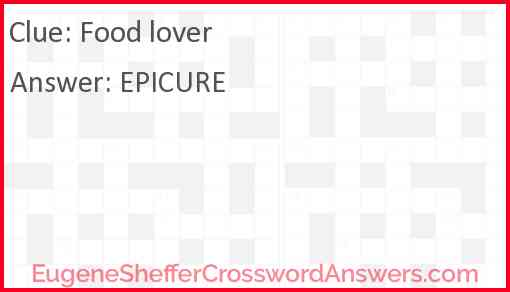 Food lover Answer