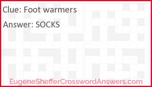 Foot warmers Answer