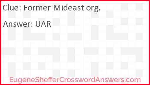 Former Mideast org. Answer