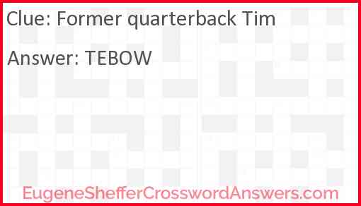 Former quarterback Tim Answer