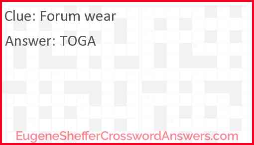 Forum wear Answer