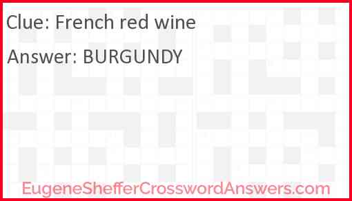 French red wine Answer