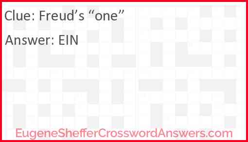 "Freud's ""one"" Answer"