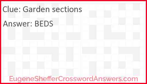 Garden sections Answer
