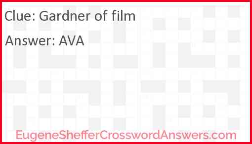 Gardner of film Answer