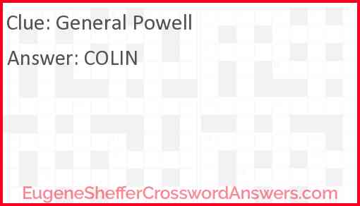 General Powell Answer