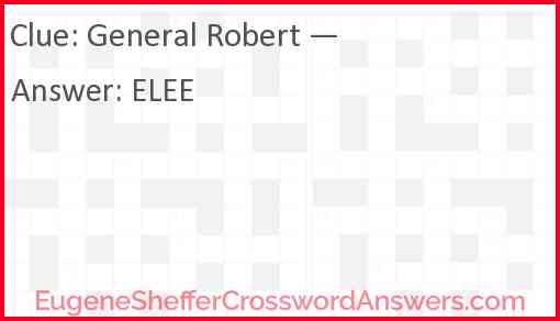 General Robert — Answer
