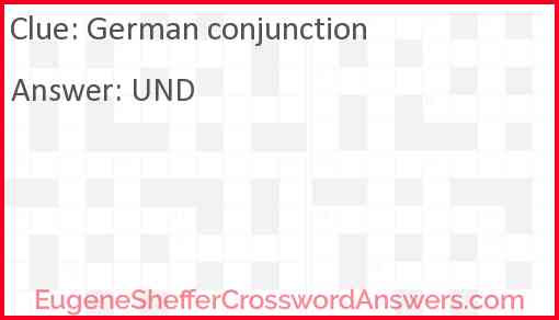 German conjunction Answer