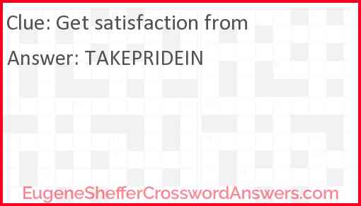 Get satisfaction from Answer