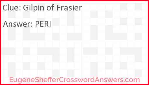 "Gilpin of ""Frasier"" Answer"