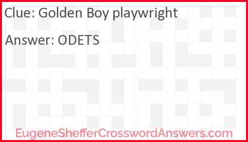 Golden Boy playwright Answer