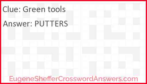 Green tools Answer