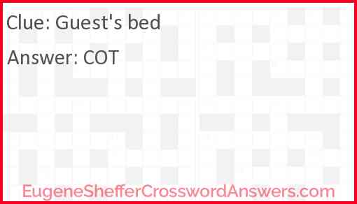 Guest's bed Answer