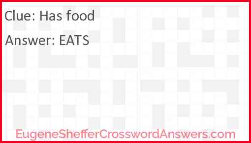Has food Answer
