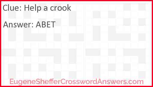 Help a crook Answer