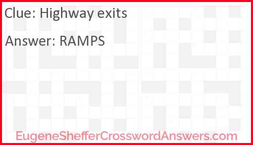 Highway exits Answer