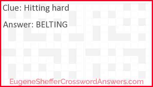 Hitting Hard Crossword Clue Eugenesheffercrosswordanswers Com