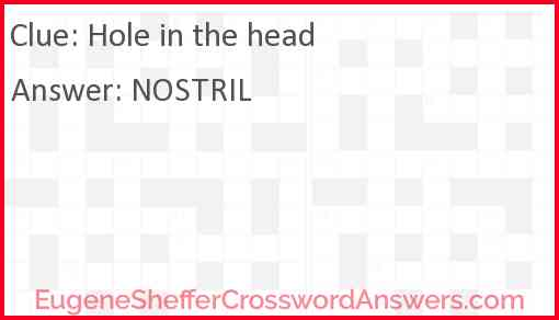 Hole in the head Answer