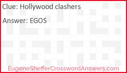 Hollywood clashers Answer