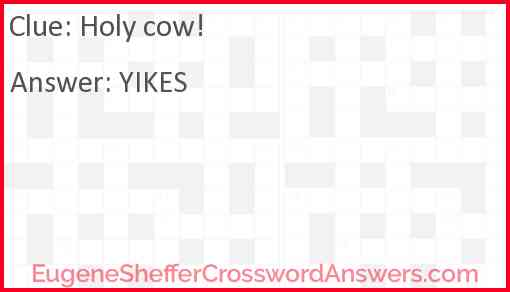 Holy cow! Answer