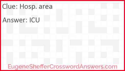 Hosp. area Answer