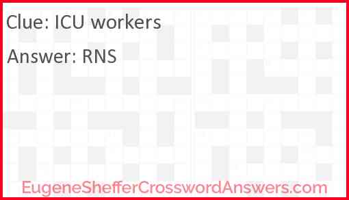 ICU workers Answer