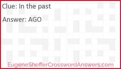 In the past Answer
