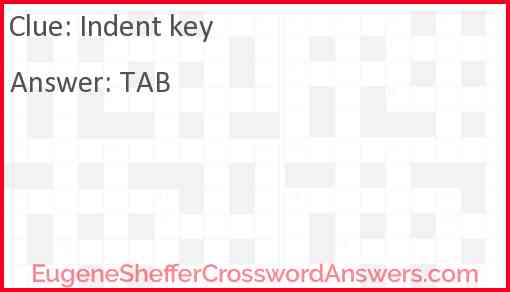 Indent key Answer