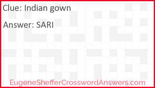 Indian gown Answer