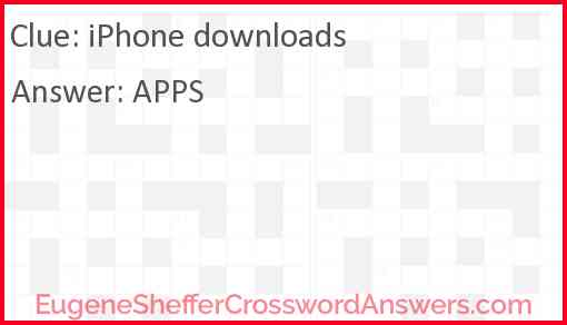 iPhone downloads Answer