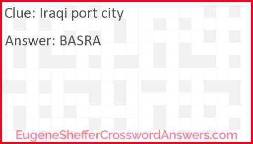Iraqi port city Answer