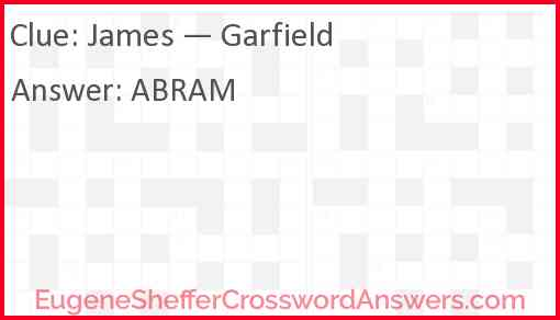James — Garfield Answer