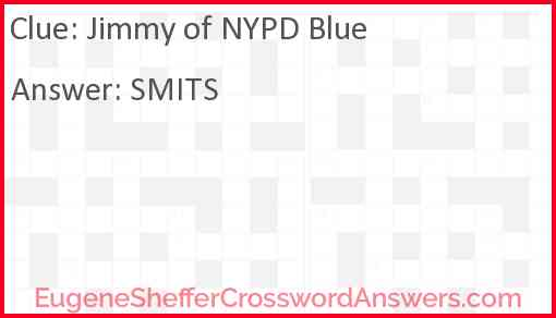 Jimmy of NYPD Blue Answer