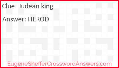 Judean king Answer